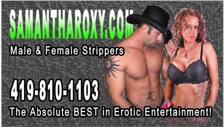 All over the Map! :) :) - Strip Tease Blog Toledo OH - Exotic Dancers, Bachelor Party Ideas - Samantha Roxy - Front_of_Card